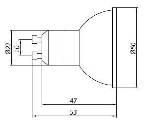 10 st ck halogen reflektorlampe gu10 50w apollo neu xyz. Black Bedroom Furniture Sets. Home Design Ideas