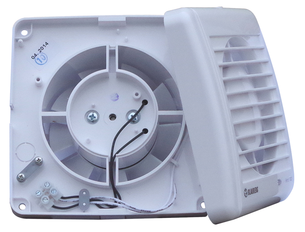 bad l fter wand ventilator feuchtesensor kugellager 100 125 leise blauberg aero ebay. Black Bedroom Furniture Sets. Home Design Ideas